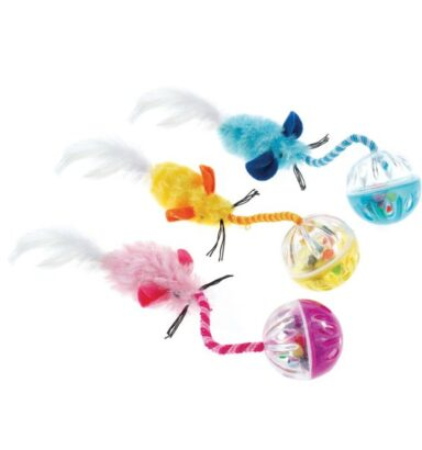 Ball n' Feather Cat Toy