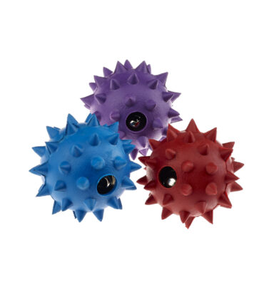 Rubber Spike Ball with Bell Small