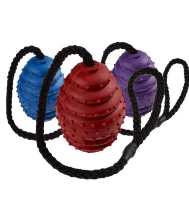 Rubber Oval Ball on a Rope Large