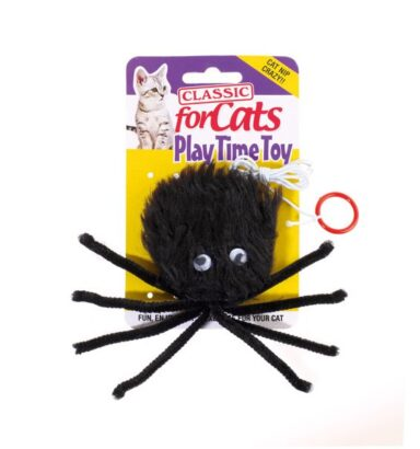 Furry Spider Cat Toy