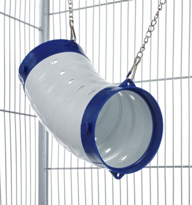 Beige Curved Ferret Tube - Blue Ends