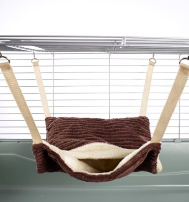 Fluffy Lined Hammock With Pouch: Luxury Chocolate