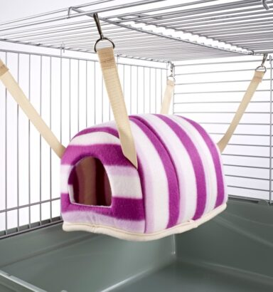 Cuddle Up Rat Chinchilla Igloo Pink Hoops