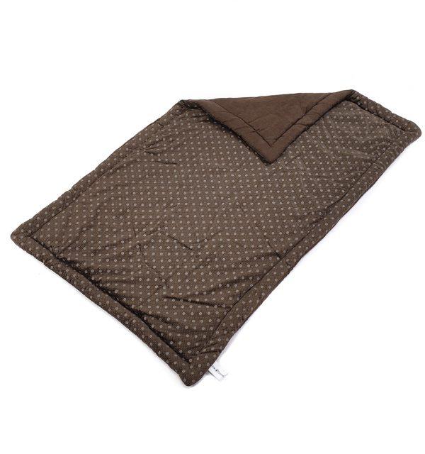 Spotty Flat Dog Bed - Chocolate