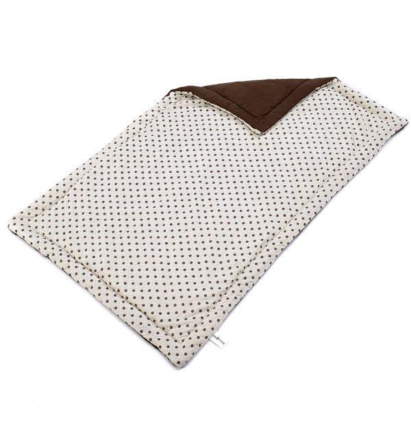 Spotty Flat Dog Bed - Cream