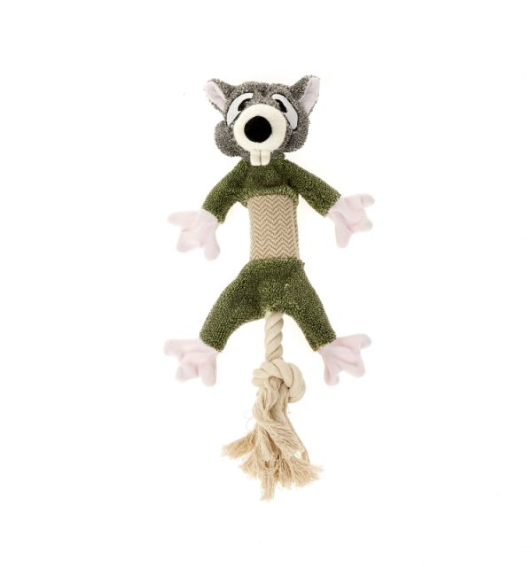 Earthy Pawz Rodent Plush Rope Toy