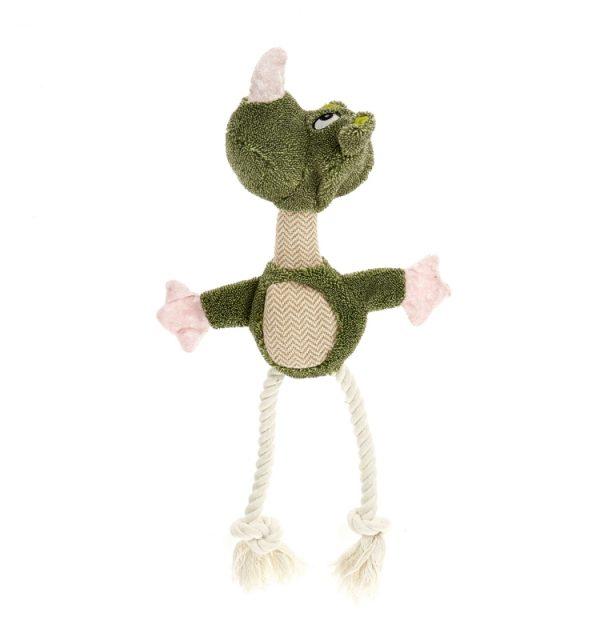 Earthy Pawz Rhino Plush Rope Toy