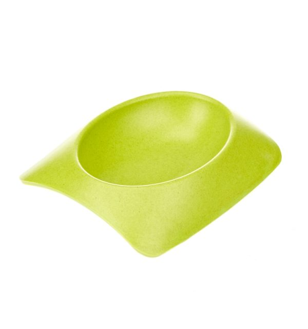 Earthy Pawz Bamboo Fibre Bowl - Large - GREEN
