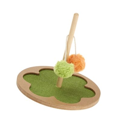 Earthy Pawz Rocking Cat Teaser Scratch Toy