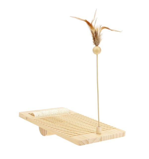 Earthy Pawz Wooden Tumble Teaser Cat Toy