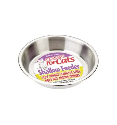 Shallow Stainless Steel Cat Dish 500ml