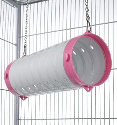 Beige Straight Ferret Tube - Pink Ends