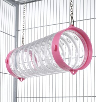 Clear Straight Ferret Tube - Pink Ends