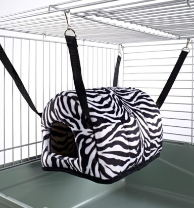 Cuddle Up Rat Chinchilla Igloo Zebra Print