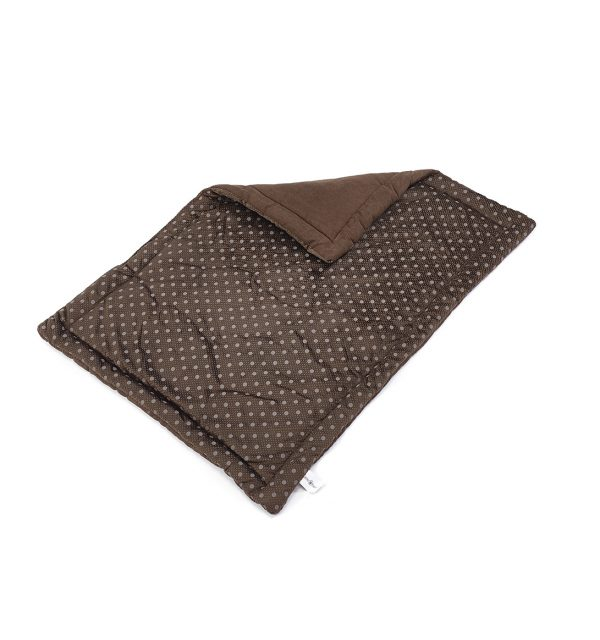 Spotty Flat Dog Bed - Chocolate
