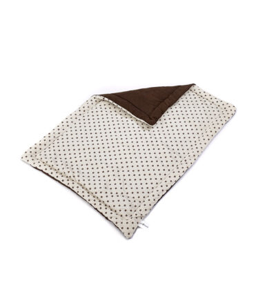 Spotty Flat Dog Bed - Cream