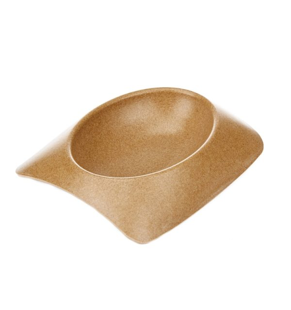 Earthy Pawz Bamboo Fibre Bowl - Small - MOCHA